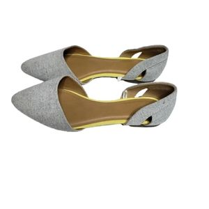 GAP grey pointed flats size 8